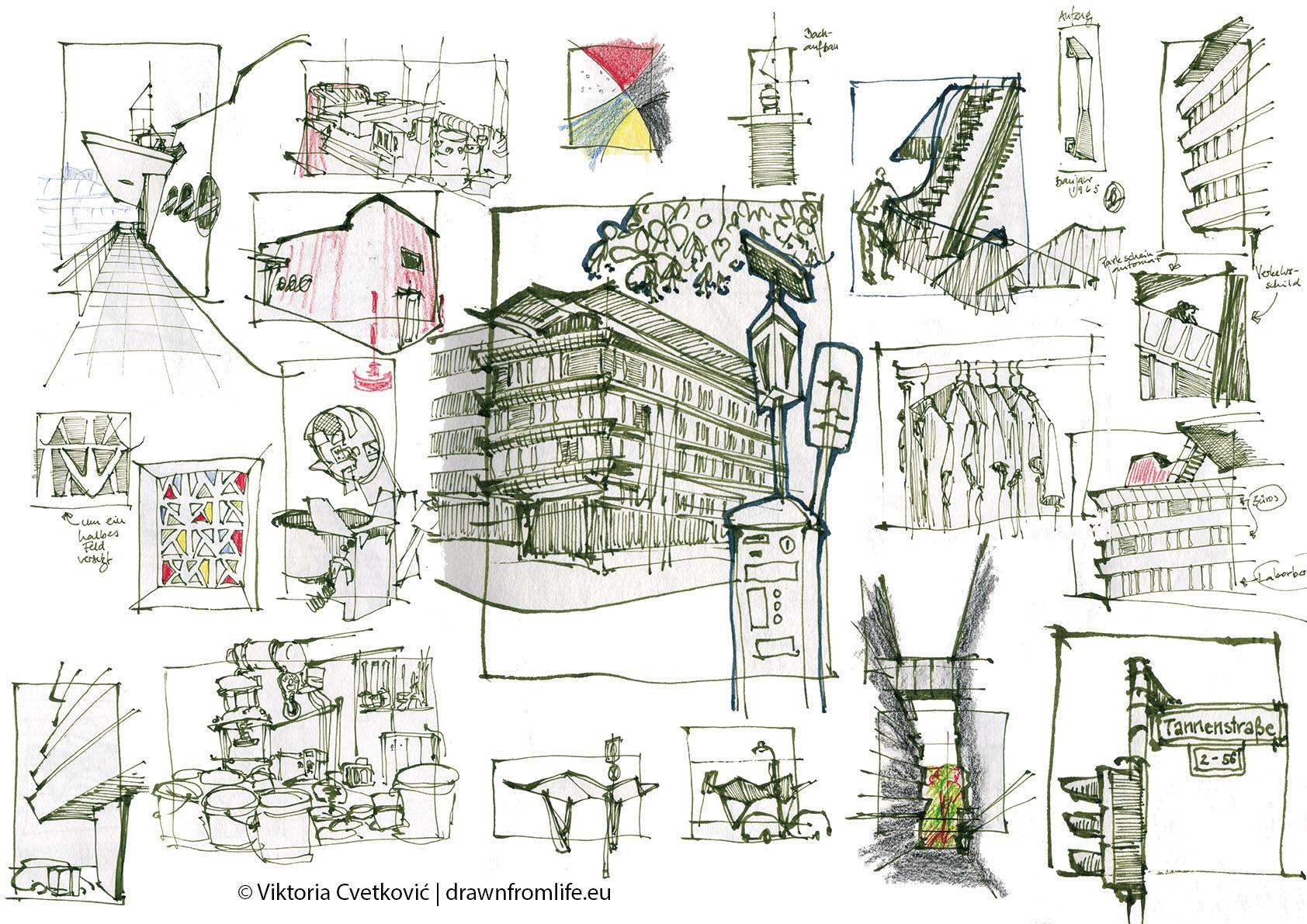 VDZ Düsseldorf © Viktoria Cvetković | drawnfromlife.eu