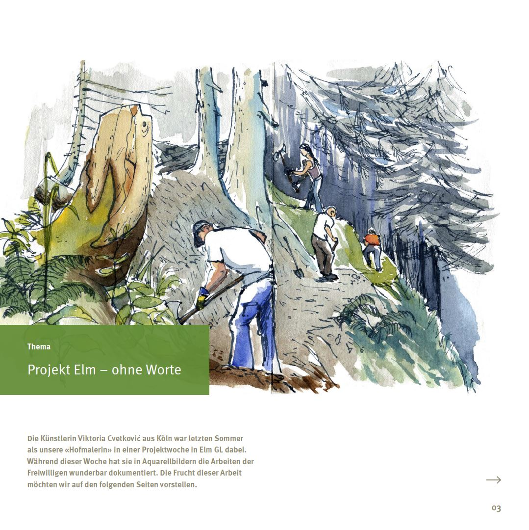 Bergwaldprojekt © Viktoria Cvetković | drawnfromlife.eu